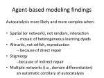agent based modeling findings