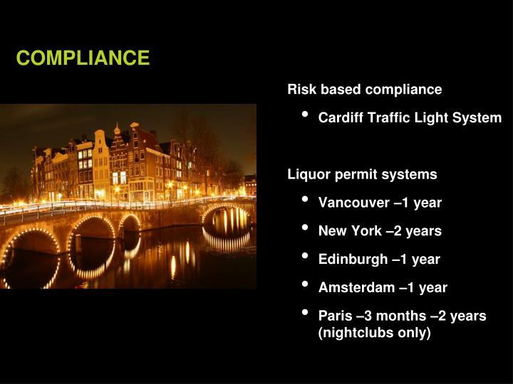 Risk based compliance