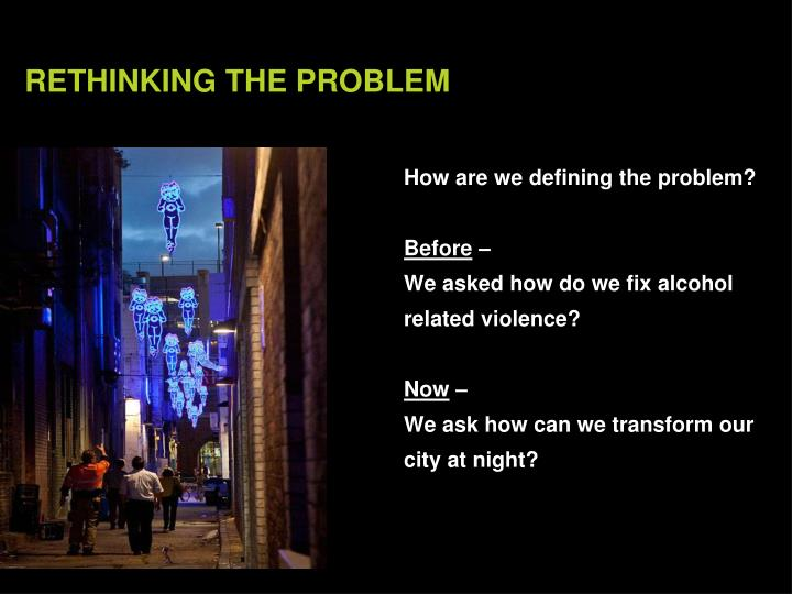 How are we defining the problem?