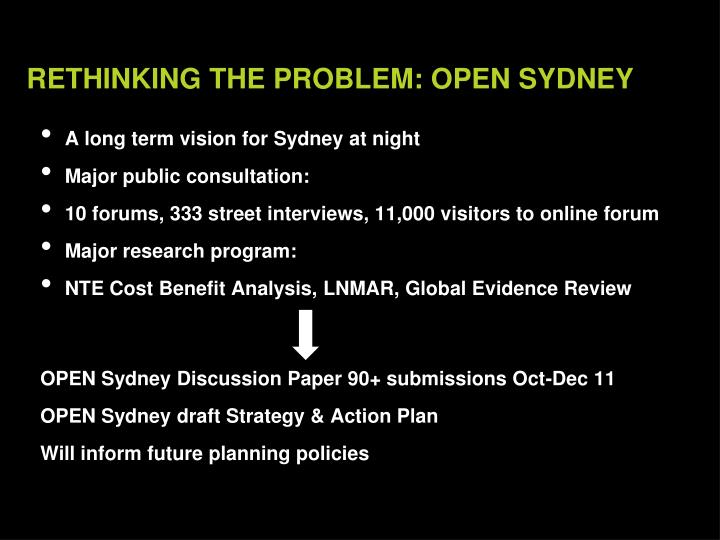 A long term vision for Sydney at night