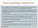 women employment global overview