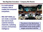 new big data innovation company war rooms