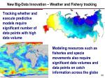 new big data innovation weather and fishery tracking