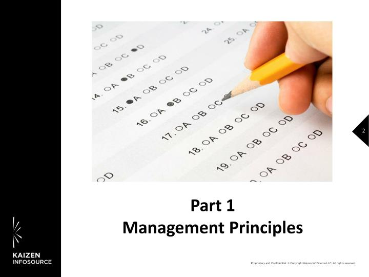 Part 1 management principles