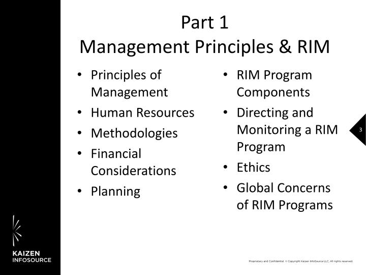 Part 1 management principles rim