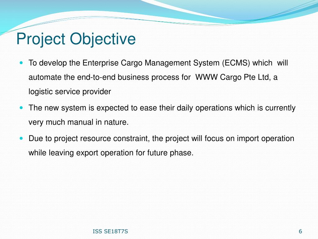 PPT - Enterprise Cargo Management System (ECMS) PowerPoint
