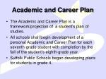 academic and career plan