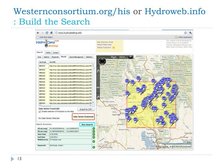 Westernconsortium.org/his