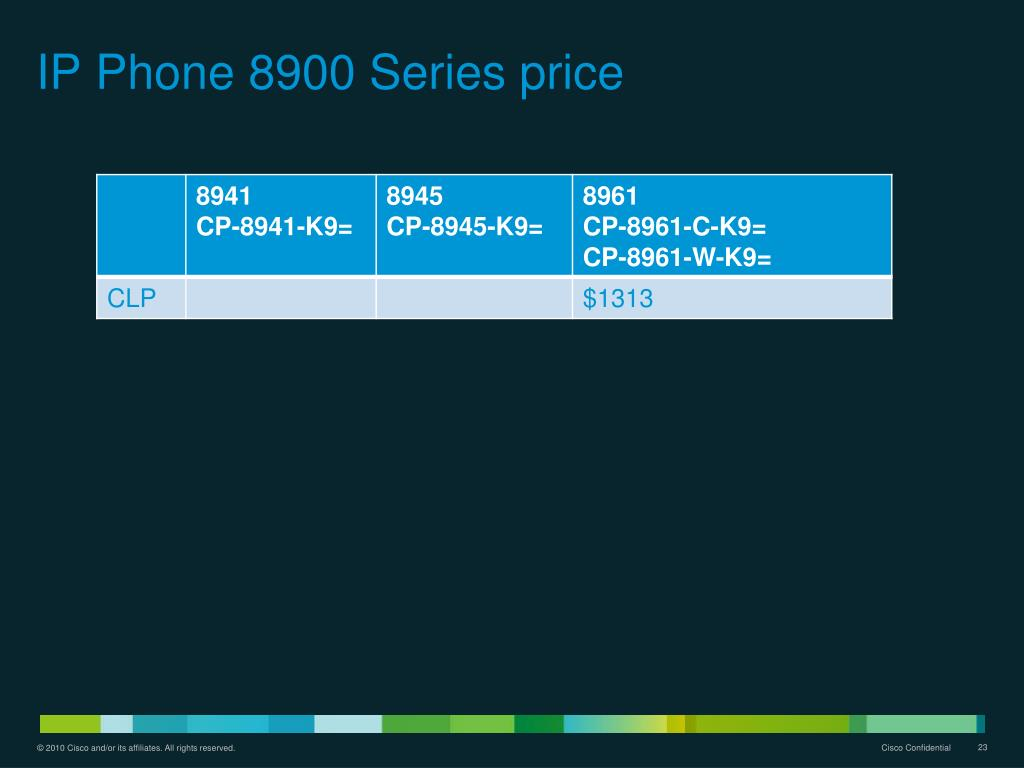 PPT - Cisco Unified IP Phone Overview Presentation