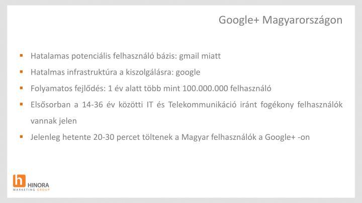 Google+ Magyarországon