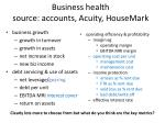 business health source accounts acuity housemark