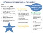 self assessment approaches templates