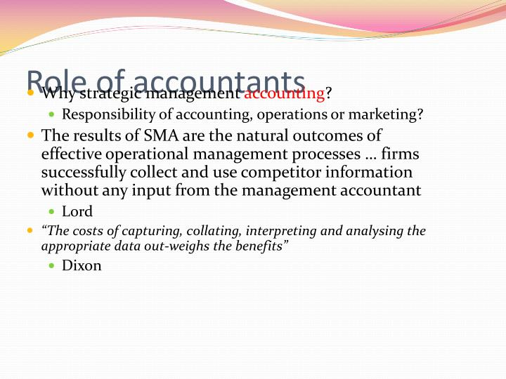 Role of accountants