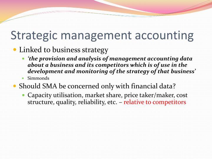 Strategic management accounting