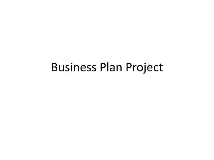 business plan project n.