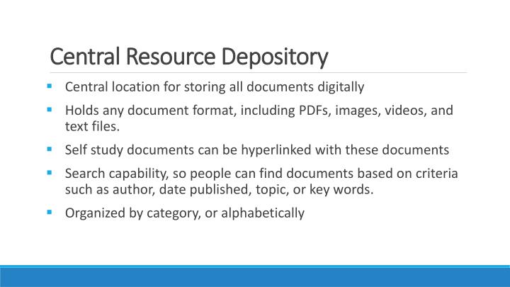 Central Resource Depository