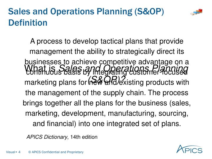 Ppt apics introduction to sales and operations planning sampop sales and operations planning sop definition fandeluxe Choice Image