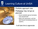learning culture at unisa