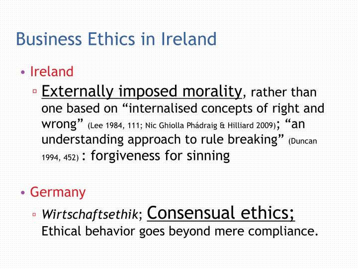 Business Ethics in