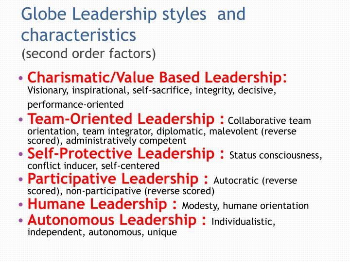 Globe Leadership styles  and characteristics