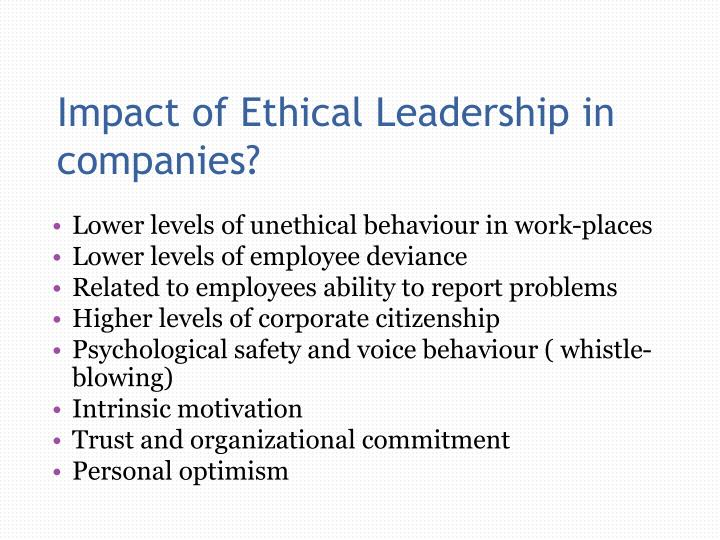 Impact of Ethical