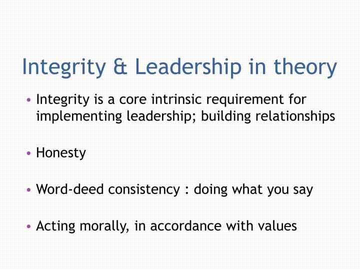 Integrity & Leadership in