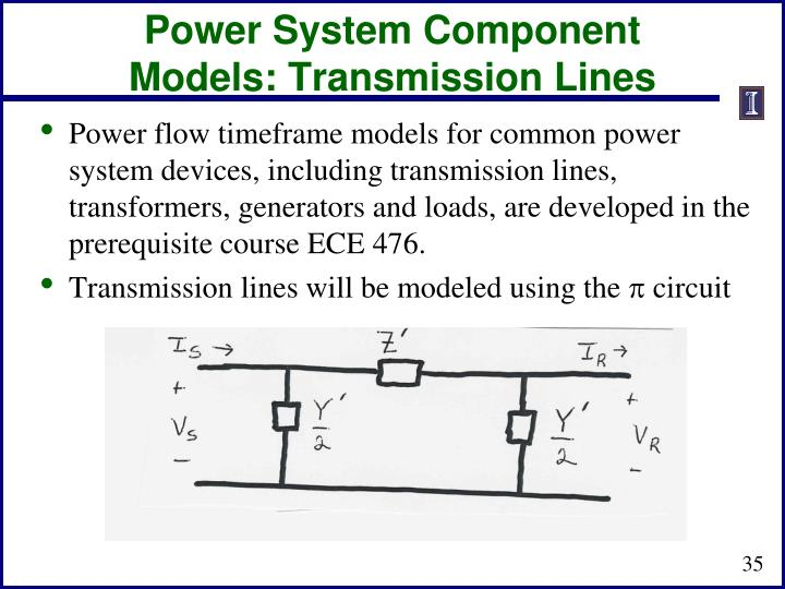 Power System Component Models: Transmission Lines