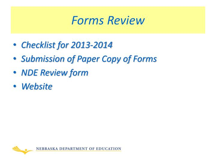 Forms Review