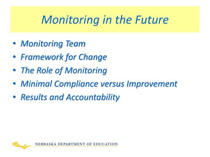Monitoring in the Future