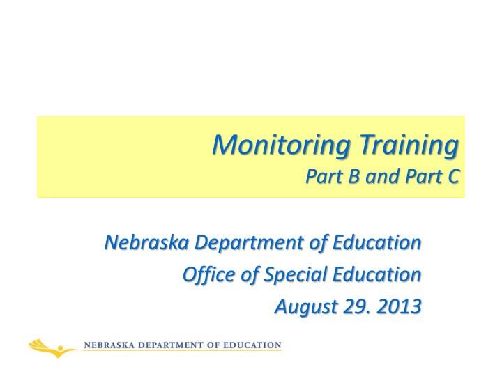 monitoring training part b and part c n.