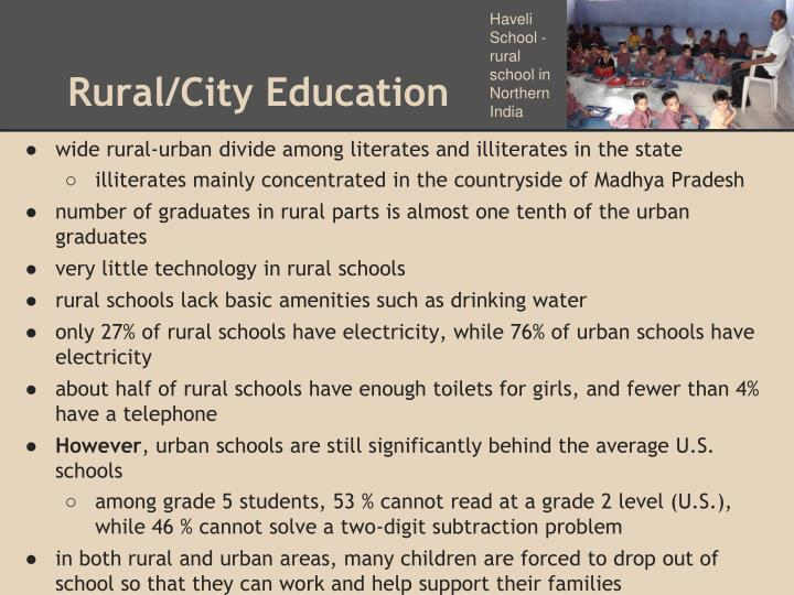 Rural city education