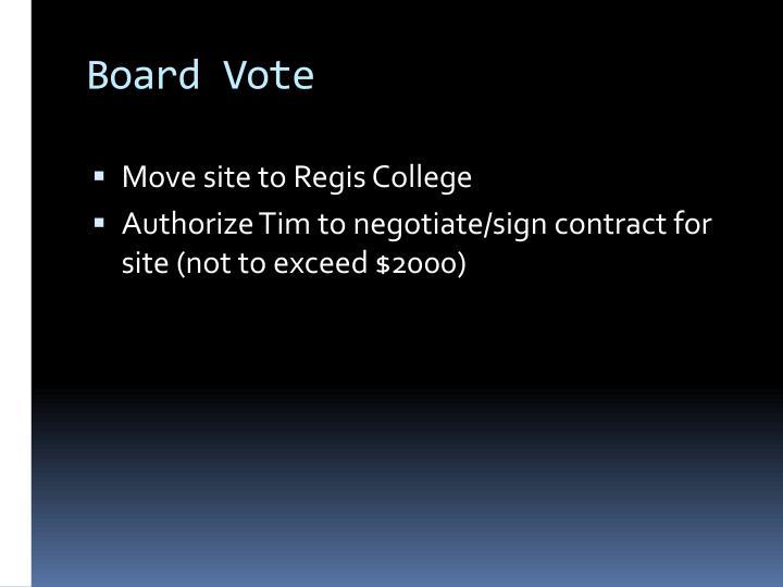 Board Vote