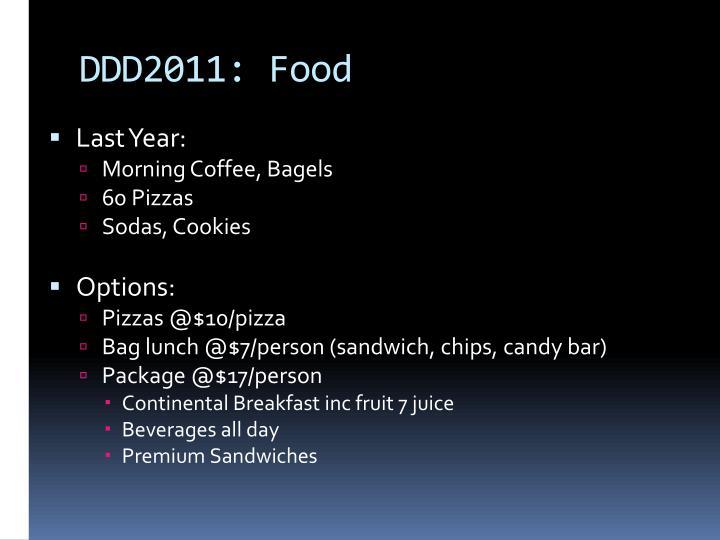DDD2011: Food