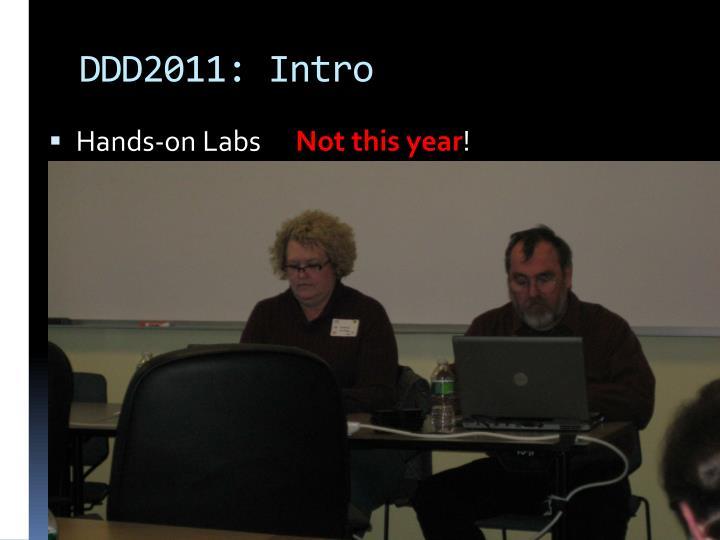 DDD2011: Intro