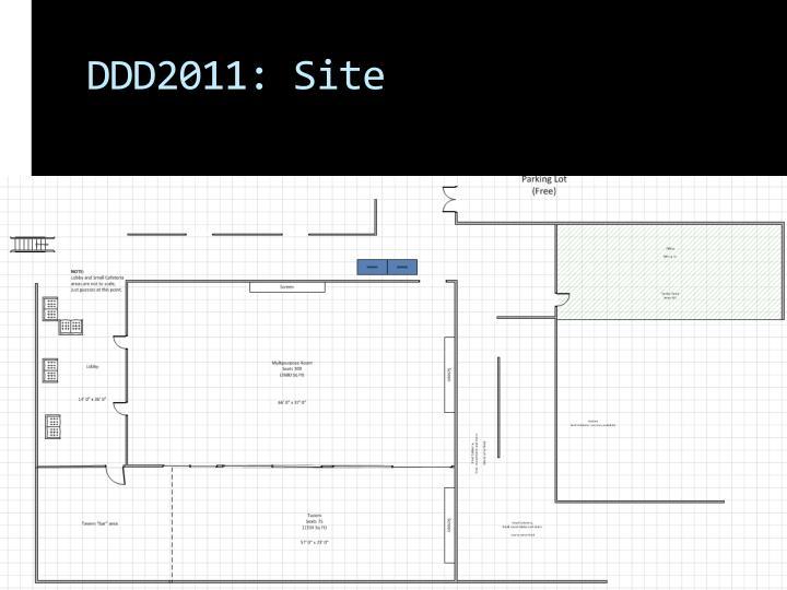 DDD2011: Site