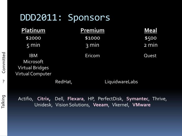 DDD2011: Sponsors