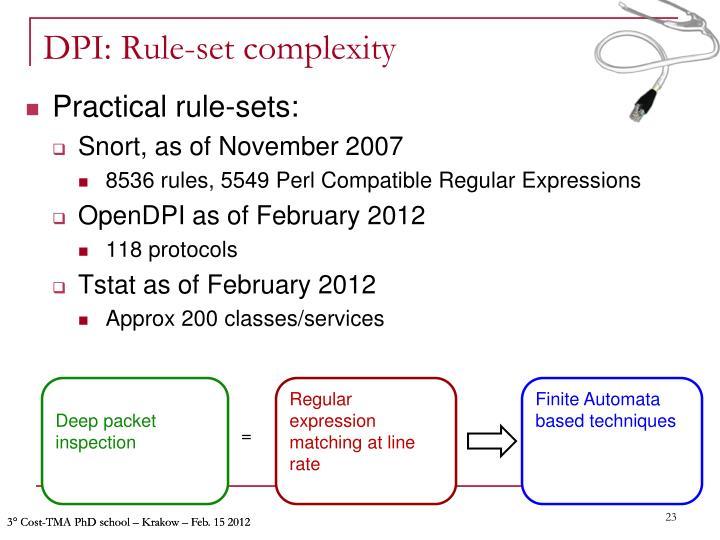 DPI: Rule-set complexity