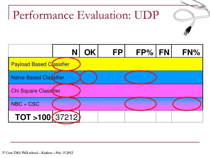 Performance Evaluation: UDP