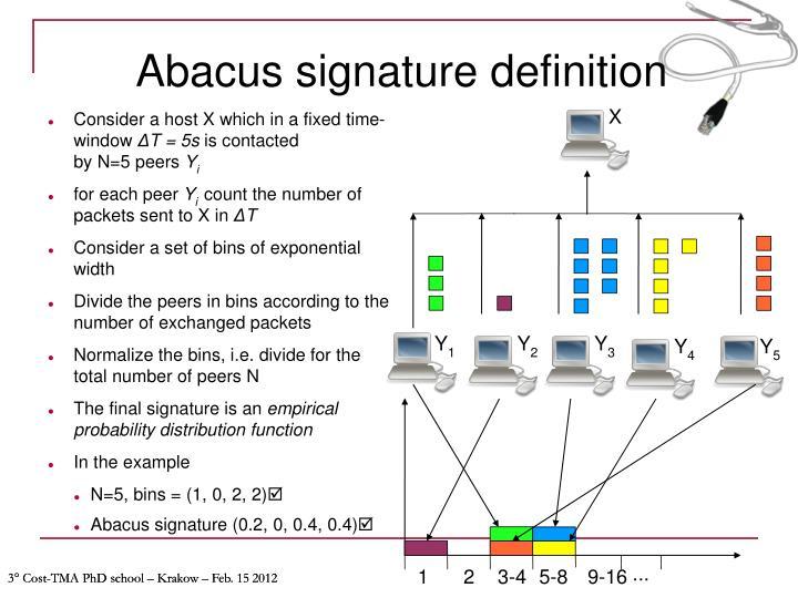 Abacus signature definition
