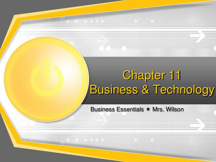 chapter 11 business technology n.