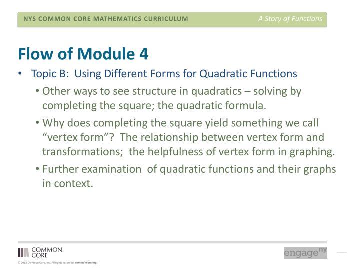 Flow of Module 4