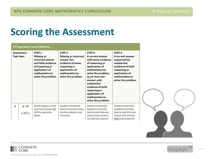 Scoring the Assessment