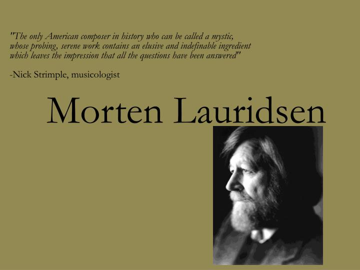 morten lauridsen n.