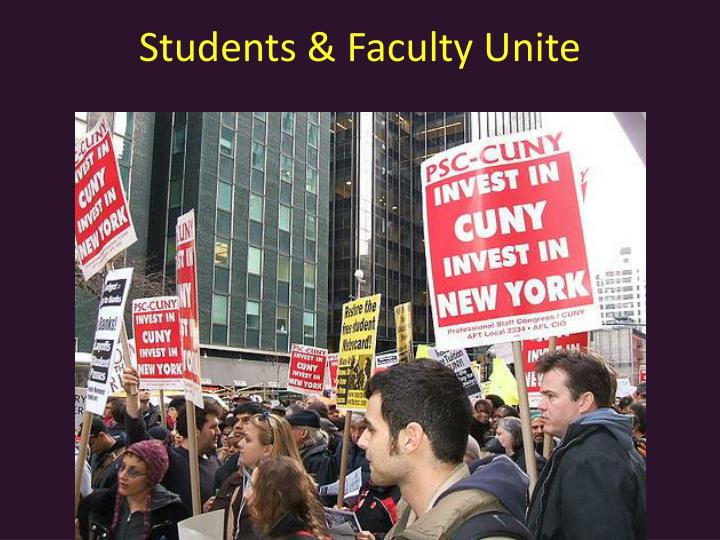 Students & Faculty Unite