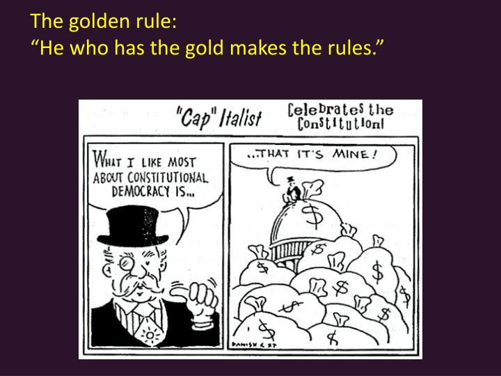The golden rule: