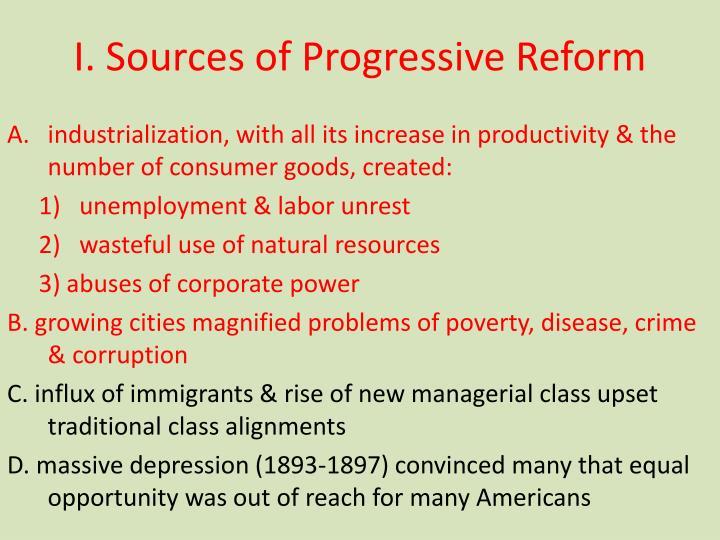 I sources of progressive reform