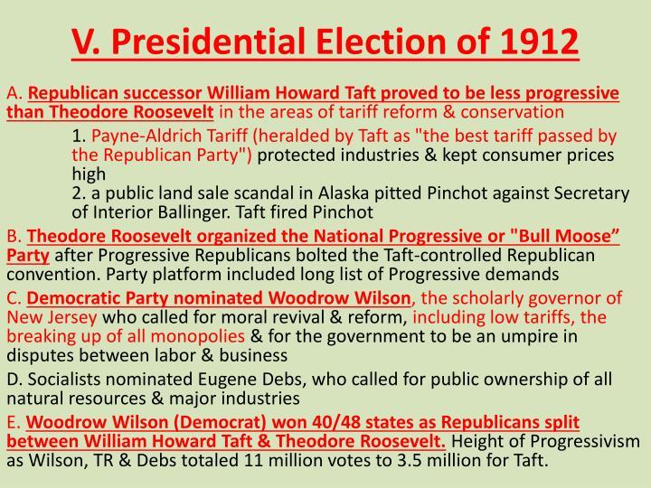 V. Presidential Election of