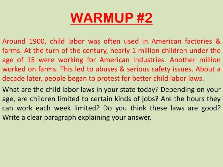 WARMUP #2