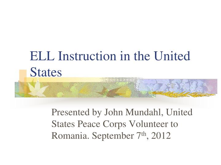 ell instruction in the united states n.