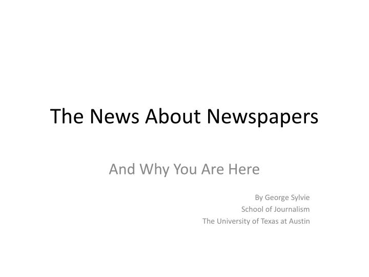 the news about newspapers n.